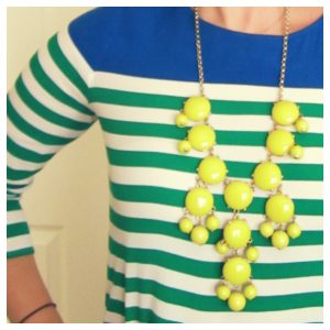 yellow Bubble statement necklace