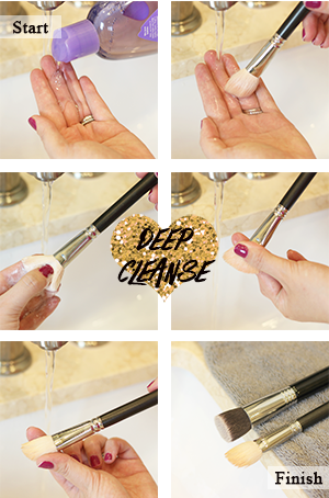 How to deep cleanse your makeup brush