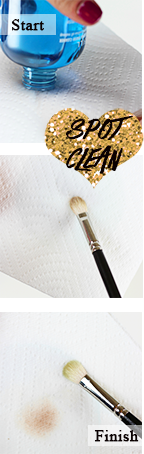 How to spot clean your makeup brush