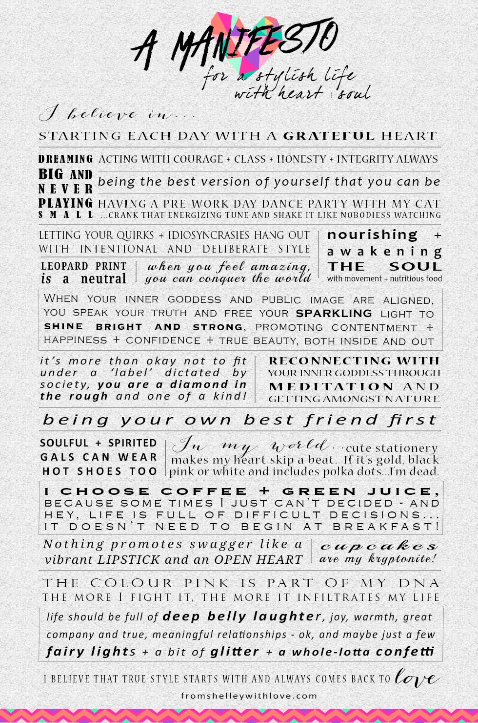 www.fromshelleywithlove.com| a heart + style based manifesto