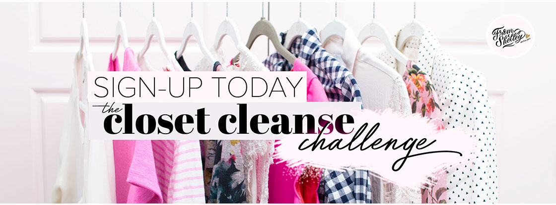 Closet Cleanse Challenge Sign-Up