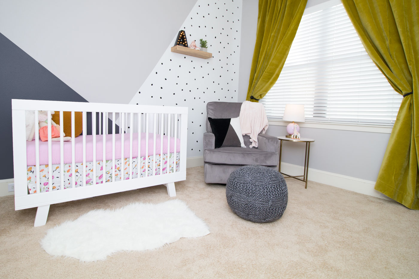 Finally, The Chartreuse, Matte Velvet Drapes Brought So Much Warmth And  Coziness To The Zamore Nursery, While Pulling The Green/mustard Tones  Together From ...
