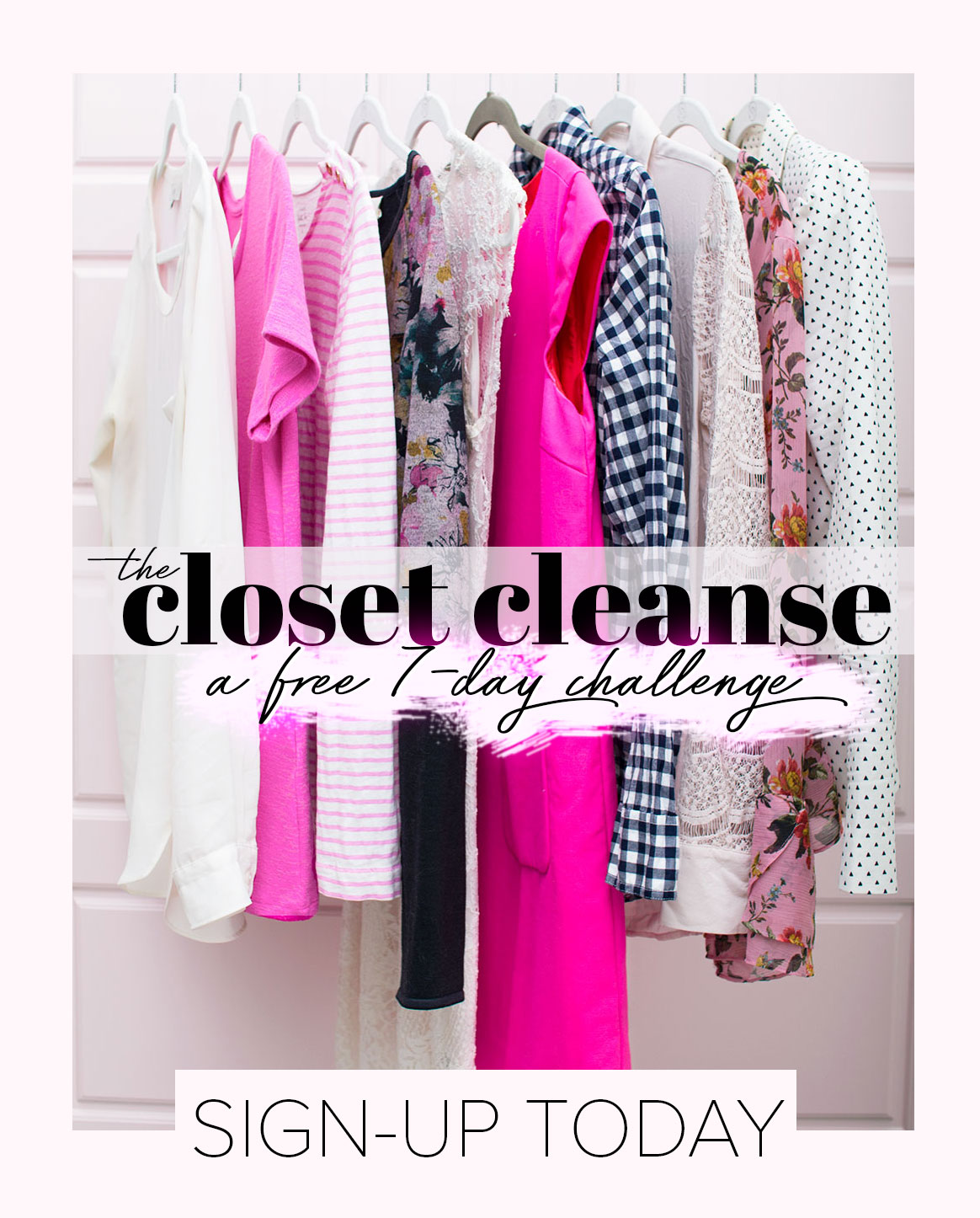 sign-up for the closet cleanse challenge