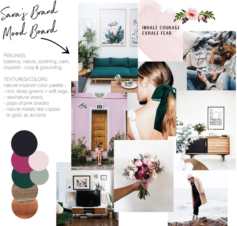 Creative Direction Project Mood Board - Vibrant Natural Medicine