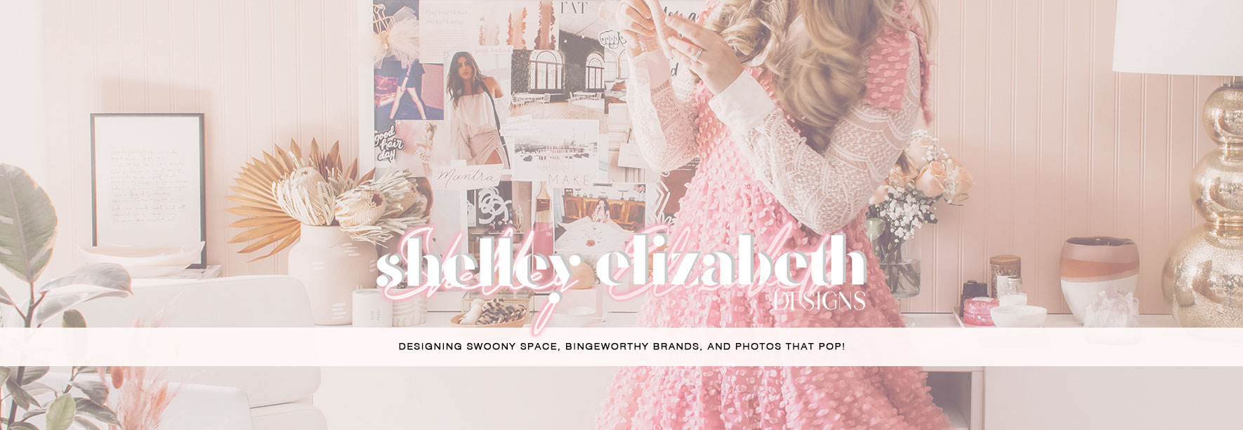 Shelley Elizabeth Designs designer and Creative Director Website Home Page Image