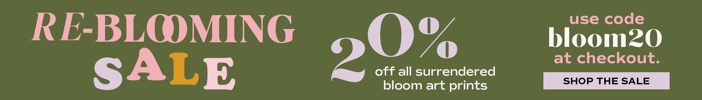 Surrendered Bloom Art Print 20% off Sale