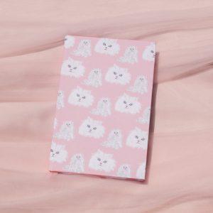 Pink Cat Notebook Journal Designed by Shelley Cohen of Shelley Elizabeth Designs